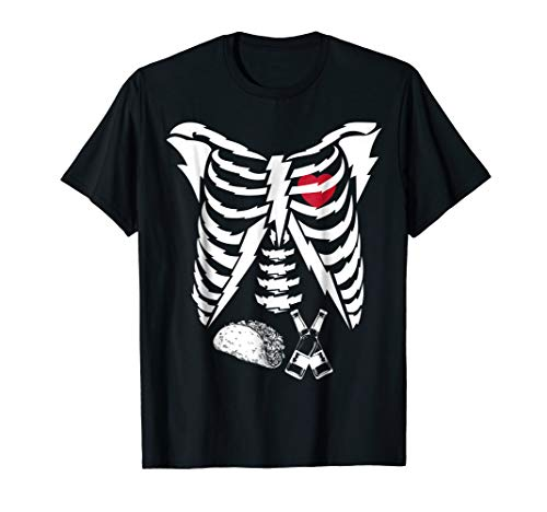 Tacos and Beer Pregnant Skeleton Halloween -