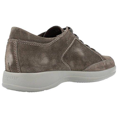 STONEFLY 104.915 cemento zapatos de hombre zapatillas de deporte de cuero de gamuza perforada cordones gris