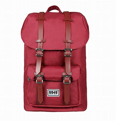 8852 Borsa Zaino Clamshell Zaino Sacchetto di Scuola Laptop Bag Zaino Outdoor Pacchetto di Coppia Moda Tempo Libero Casual Daypacks