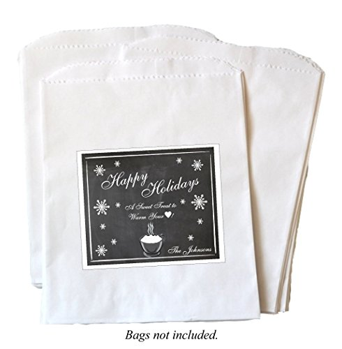 hot-chocolate-personalized-self-adhesive-christmas-labels-set-of-24lsnowflake