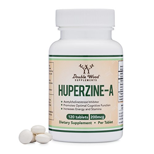 Huperzine A 200mcg (Third Party Tested) Made in the USA, 120 Tablets by Double Wood Supplements (L-Huperzine (200 Mcg 120 Tabs)