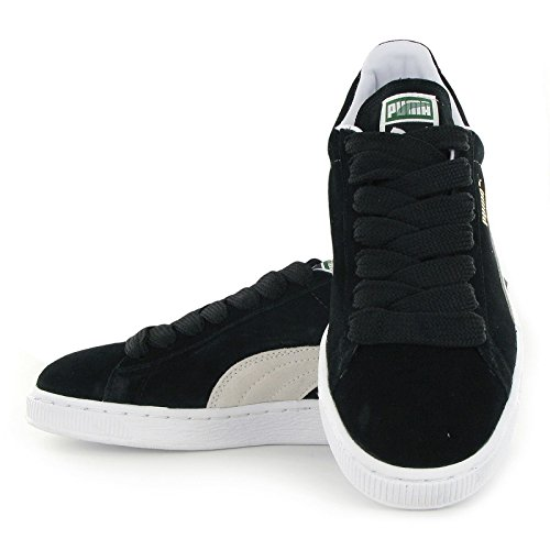 Puma Suede Classic 352634 03 Womens Laced Suede Trainers Black White - 5
