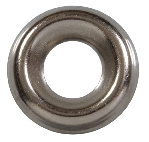 The Hillman Group 1262 #8 Brass Nickel Plated Countersunk Finishing Washer 40-Pack - Nickel Plated Bolt