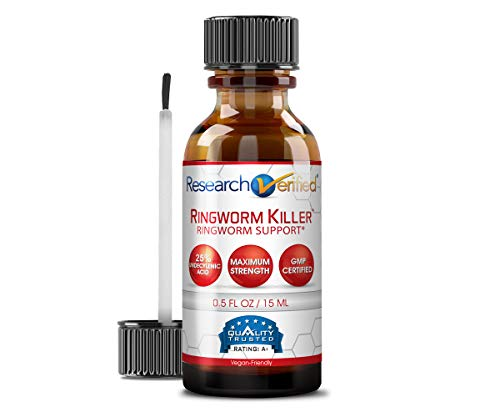 Research Verified Ringworm Killer - 1 Bottle - The Best Relief for Ringworm - 25% Undecylenic Acid and Tea...