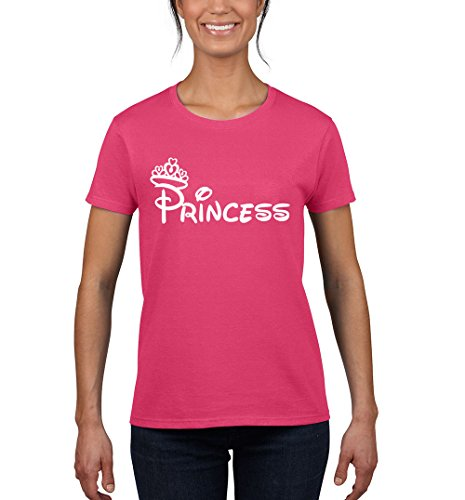 Disney Couples Princess (NineTeen, Minnie Princess Disney Womens Fashion T-Shirt (Medium,)