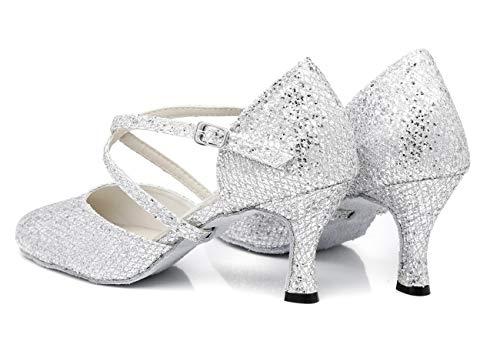 l342 Minitoouk Minitoo Silver Heel Sala Da 7 Donna 5cm F5qdqwxR