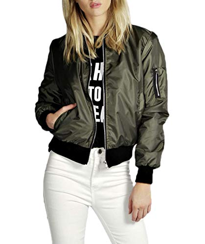 Bomber Army Giacca Blouse Tops Autunno Giacche Manica E Corto Giovane Outerwear Lunga Green Simple Donna Cappotto Moda Coat fashion Jacket Primavera Casual En7RqY8pwz