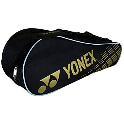 927982ffeae Yonex SUNR 1825 Aluminum Blend Double Compartment Badminton Kitbag (Black)