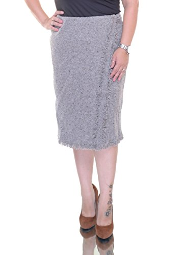 (LAUREN RALPH LAUREN Women's Gray Skirt Size 10)