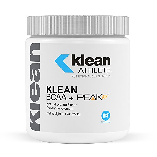 Klean Athlete - Klean BCAA + Peak ATP - Branched Chain Amino Acids to Support Muscular Performance and Recovery* - NSF Certified for Sport - Natural Orange Flavor - 9.1 oz (258 g) (Peak Recovery)
