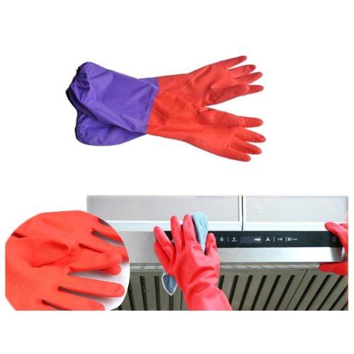 HUAYANG Fleece Innen elastische Manschette Latex Handschuhe Küche Garten Haushalt Washing Reinigungswerkzeug