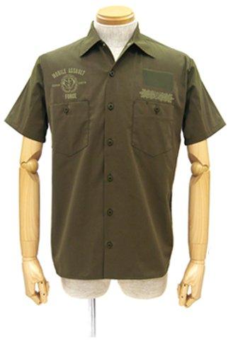 機動戦士ガンダム ジオン突撃機動軍ワッペンベースワークシャツ カーキ サイズ:M B00LGB9KAS