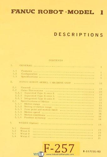 Fanuc Robot Model 1, CNC Control Manual
