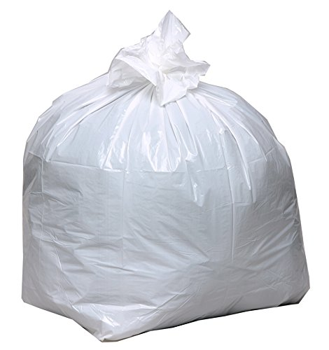 Earthsense Commercial RNW1K150V Recycled Tall Kitchen Bags, 13-16gal.8mil, 24 x 33, White, 150 Bags per ()