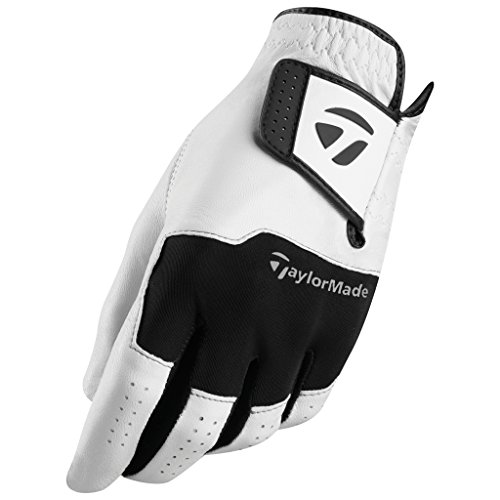 TaylorMade MLH Stratus All Leather Glove White-Black Cadet M