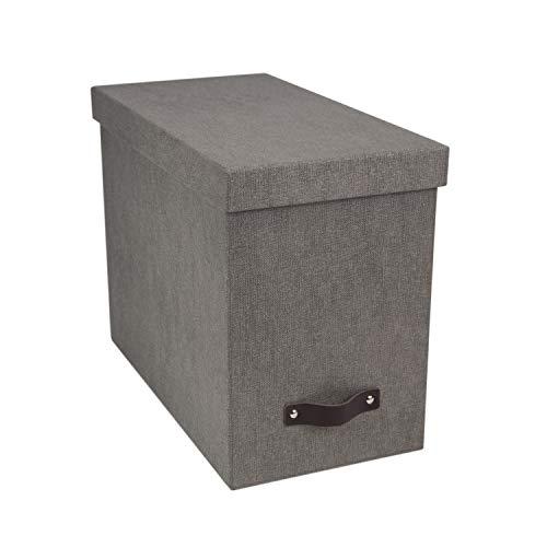 - Bigso John Canvas Paper Laminate Desktop File Storage Box, Grey