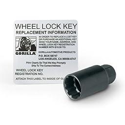 Gorilla Automotive 71631N Acorn Wheel Locks (12mm x 1.50 Thread Size) - Pack of 4