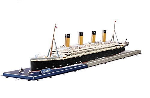 TITANIC RMS Royal Mail Ship Collectible Fun Educational 3D Assembly Puzzle Model Toy 158 pieces