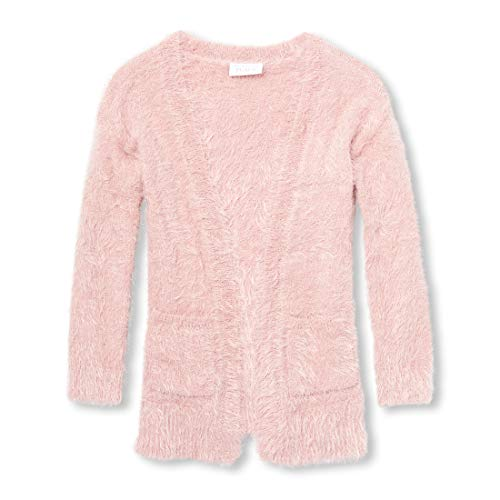 The Children's Place Big Girls' Long Cardigan Sweater with Pockets, Light Plum, M (7/8) (Cardigan Long Girls)