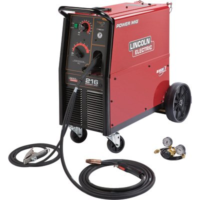Lincoln Electric Mig Welder >> Lincoln Electric Power Mig 216 230v Flux Cored Mig Welder 250 Amp