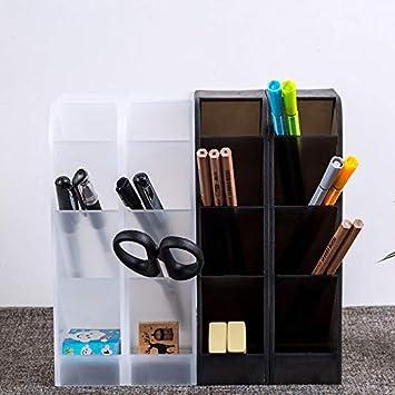 Organizador de Escritorio de soporte de almacenamiento Hogar blanco Organizador de Pluma organizador de escritorio,organizador rotuladores, almacenamiento para suministros de oficina