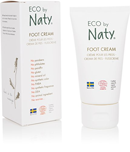 Eco by Naty Ecocert Certified Organic Foot Cream - Dry and Tired Feet, 1.7 Fl. Oz