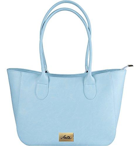 Antie Damen Handtasche Schulterntasche AN 189 Blau qBTNpoxaTX