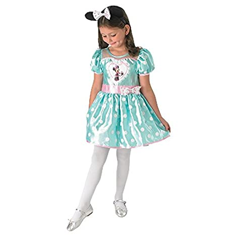 Disney Niños Disfraz Cupcake Minnie Ratón en Mint con pelo maduro ...