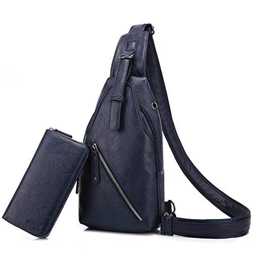 Bolso de hombro de los hombres/hombre de pecho pequeño paquete/La versión coreana de bolsillo/Deportes al aire libre y ocio ciclismo mochila/mama bolsas de los hombres-B C