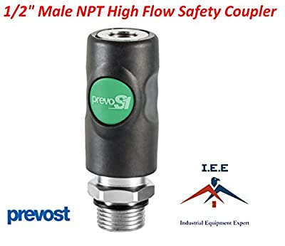 "Prevost High Flow Safety Air Coupler ESI 071253 1/2"" MNPT Quality New Prevo S1"