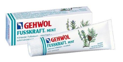 GEHWOL Fusskraft Mint, Kühlender Fußbalsam erfrischende Fußcreme, 125 ml