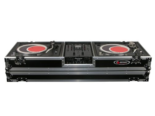 Odyssey FZDJ10W Flight Zone Ata Dj Coffin With Wheels For A 10 Mixer And Two Turntables In Standard ()