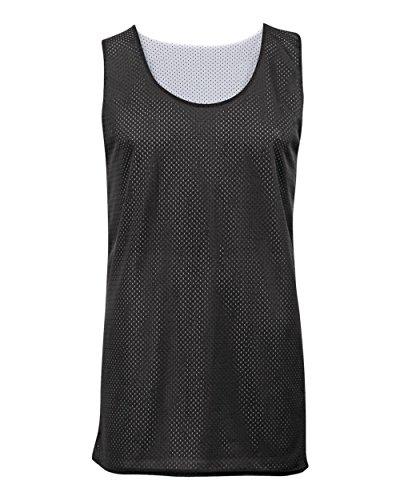 Black/White Adult 4XL Reversible Mesh Tank Top Jersey Uniform