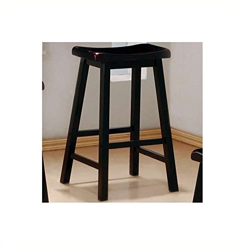 Coaster 29 Inch Wooden Bar Stool in Black by Coaster Home Furnishings