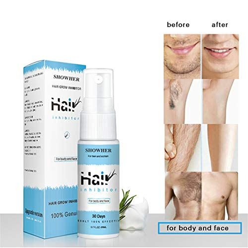Hair Growth Removal Inhibitor Serum Oil Spray Beard Bikini Intimate Face Legs Body Armpit Painless Hair Remover