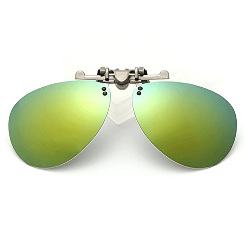 LOMOL Fashion Polarized Myopia Clip-on Flip up UV Protection Aviator Style - You Sunglasses Do How Measure