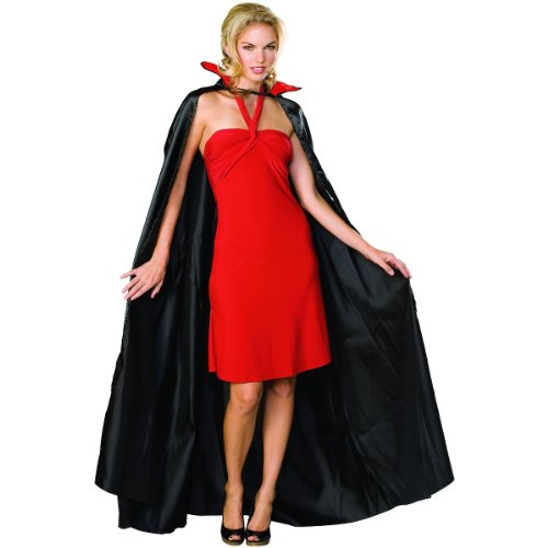 Rubie's Satin Cape Adult Costume, Black, One