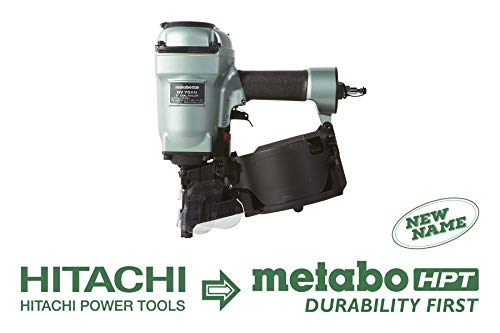 Metabo HPT NV75AN Pneumatic Coil Siding/Framing Nailer, 1-3/4″Up To 3″ Plastic/Wire Collated Nails, Contact (Bump) Trigger Installed, 360° Adjustable Air Deflector (Renewed)