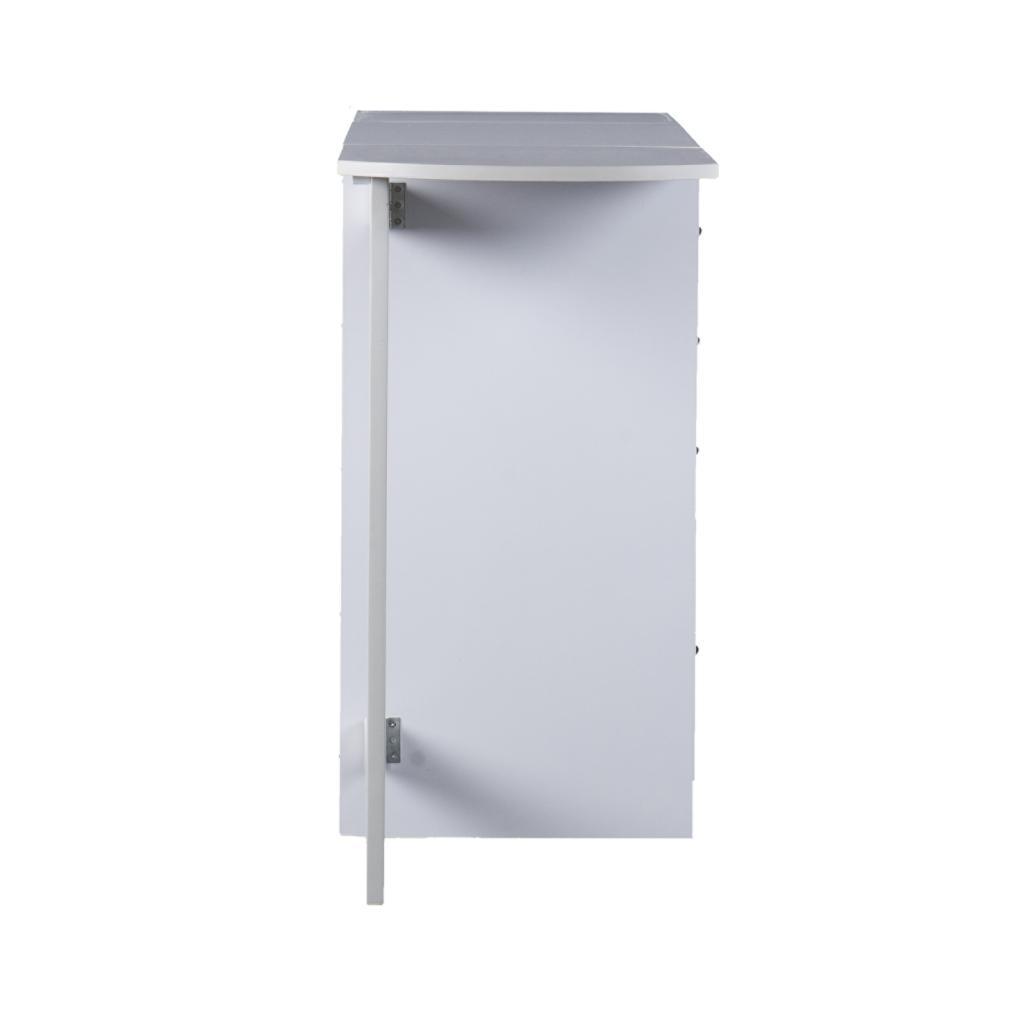 Amazon Com Sei White Fold Out Organizer And Craft Desk Kitchen Amp Dining