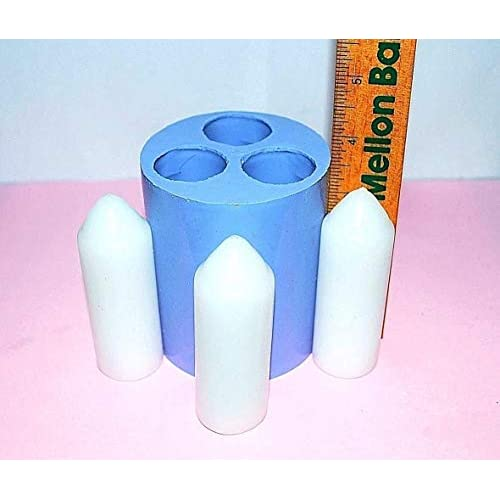 Silicone UCO candle Mold Lantern taper 3 cavities big image