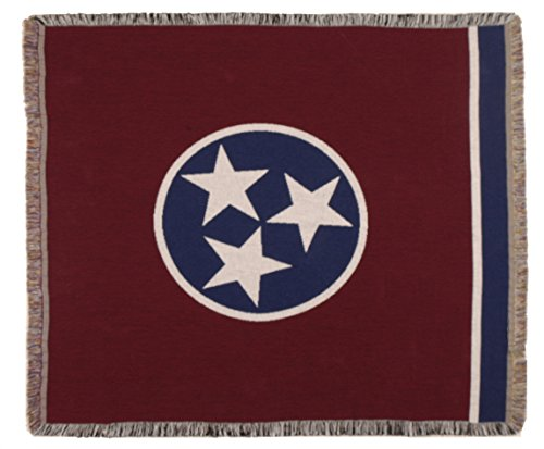 Simply Home Flag of Tennessee Tapestry Toss Blanket Throw USA Made SKU TPM019