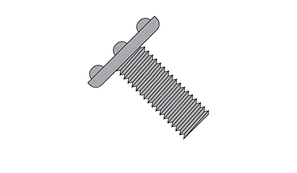 Amazon com: 1/4-20 x 1 Weld Screws/Nibs On Top of Head/Steel/Plain