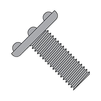 Amazon com: 1/4-20 x 1 Weld Screws/Nibs On Top of Head/Steel/Plain