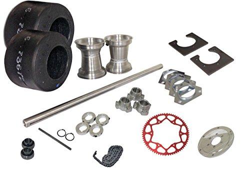 BMI Karts Drift Trike 1-1/4'' Tubular Axle Kit with Tires & Rims (#35 Chain), 40