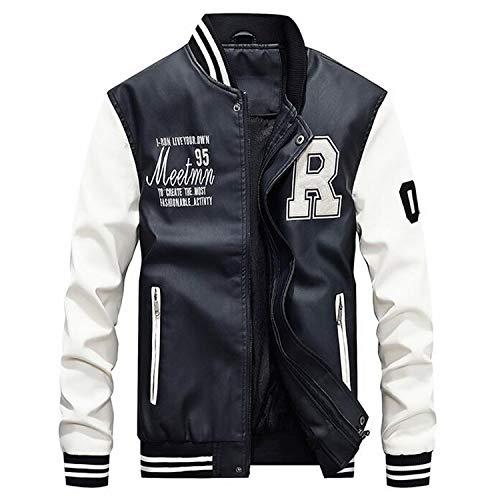 Amazon.com: AFS Jeep Embroidery Baseball Jackets Men Plus Size 4XL Fleece Pilot Leather Jacket Hombre: Clothing