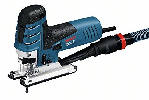 Bosch Professional GST 150 CE Stichsäge (mit 1 Sägeblatt T144D, max. 150 mm Schnitttiefe, 780 W, Koffer) 0601512000