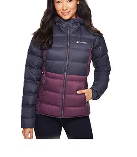 Columbia Women's Sunrise Peak Down Insulated Hooded Winter Jacket (L) Navy/Plum (Columbia Womens Winter Coats)