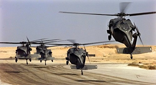 (Home Comforts Laminated Poster U.S. Army UH-60L Black Hawk Helicopters Lift Off at Cairo West Air Base, Egypt, During Exercise Brig Vivid Imagery Poster Print 24 x 36)