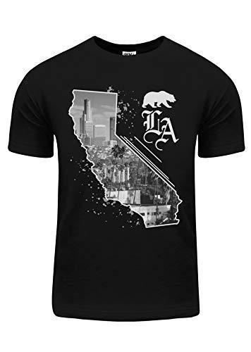 Shaka Wear BU03_L Los Angeles City View California map Bear L
