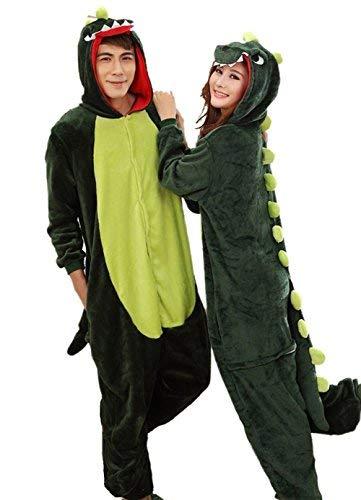 (Aoibox Unisex Adult Dinosaur Animal Cosplay  Pajamas Size L,)